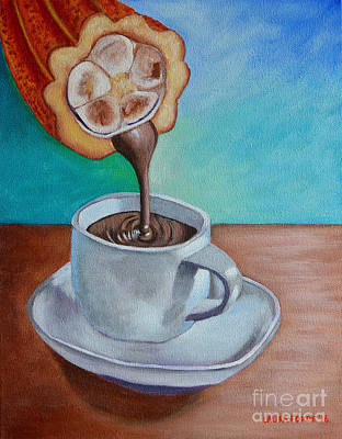 Painting - Pour Me A Cup Of Chocolate Please. by Laura Forde