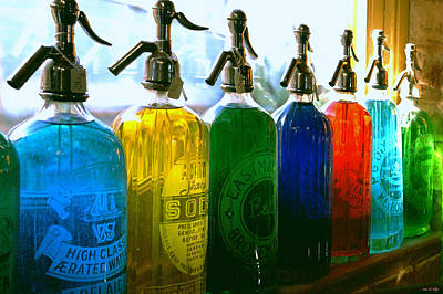 Bottle Photograph - Pour Me A Rainbow by Holly Kempe