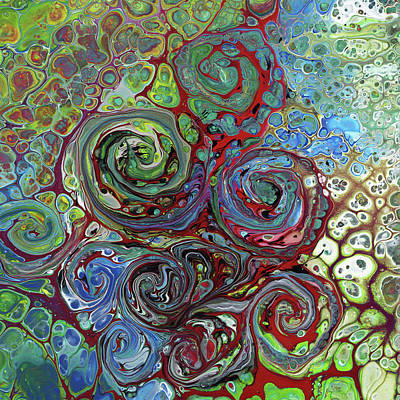 Mixed Media - Pour Storm by David Bader