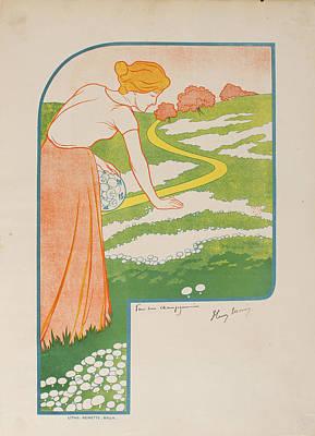 Pour Drawing - Pour Une Champignonniere by Celestial Images