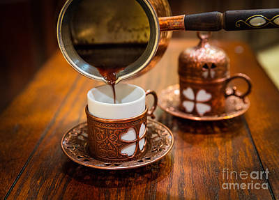 Poured Turkish Coffee Art Print by Inge Johnsson