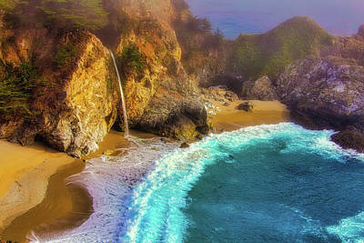 Coast Highway One Photograph - Pouring Into The Sea by Garry Gay