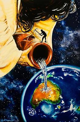 Painting - Pouring Out by David Rhys