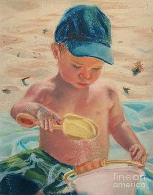 Pouring Sand Art Print by Lisa Pope