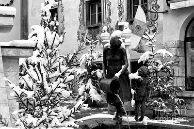 Photograph - Pouring Water In Berchtesgaden by John Rizzuto
