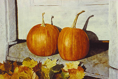 Painting - Povec's Pumpkins by Tyler Ryder