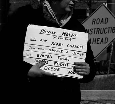 Sick Evicted Family Art Print by Robert Frank Gabriel