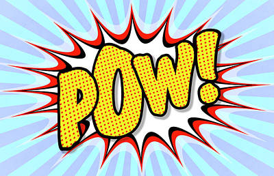 Digital Art - Pow Comic Expression by Daniel Hagerman