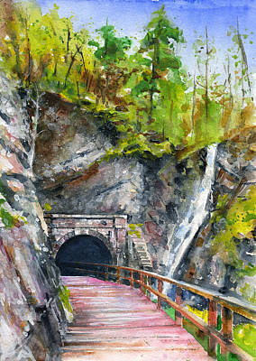 Painting - Paw Paw Tunnel C And O Canal by John D Benson