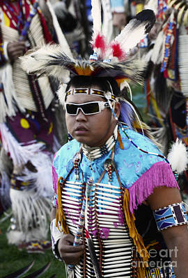 Fancy-dancer Photograph - Pow Wow Beauty Of The Past 14 by Bob Christopher