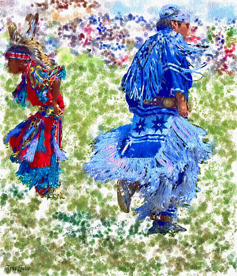 Photograph - Pow Wow Dancers by Anna Louise