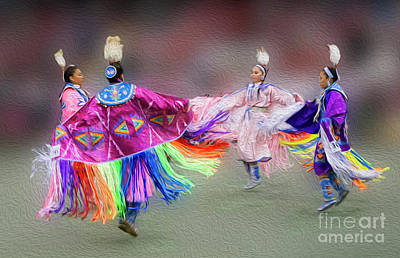 Photograph - Pow Wow Dancers by Vivian Christopher