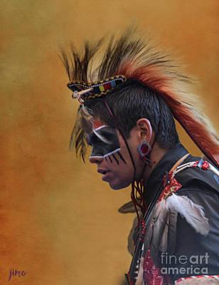 Mixed Media - Pow Wow by Jim  Hatch