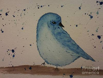 Painting - Powder Blue by Ginny Youngblood