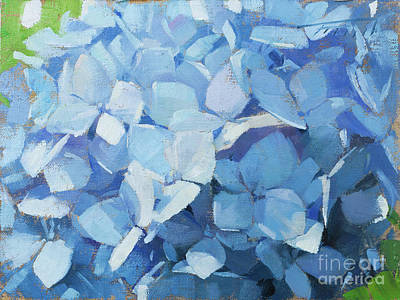 Wall Art - Painting - Powder Blue by Patrick Saunders