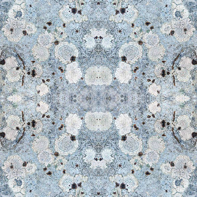 Mixed Media - Powder Blue Pattern by Christina Rollo