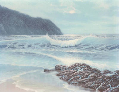 Painting - Powder Blue Seascape by Susan Elizabeth Wolding