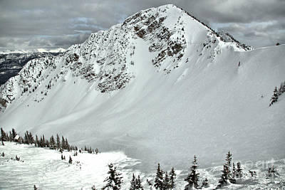 Photograph - Powder Day In Bowl Over by Adam Jewell