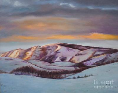 Art Print featuring the painting Powder Mountain by Marlene Book