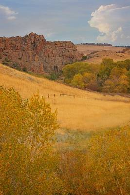 Photograph - Powder River Fence by Amanda Smith