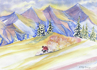 Painting - Powder Skiing Art by Melly Terpening