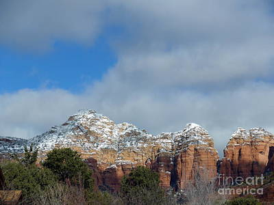Powdered Sugar Sedona Red Rocks Art Print by Marlene Rose Besso