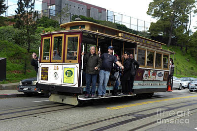 Photograph - Powell And Market Street Trolley by Steven Spak