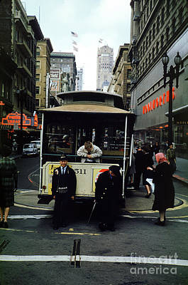 Photograph - Powell And Mason Street Turnaround, April 6 1961 by Wernher Krutein