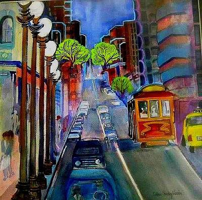 Painting - Powell  Street by Esther Woods