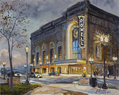 Painting - Powell Symphony Hall In Saint Louis by Irek Szelag