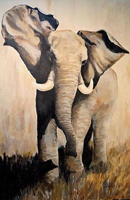 Bama Painting - Power by Alan Lakin