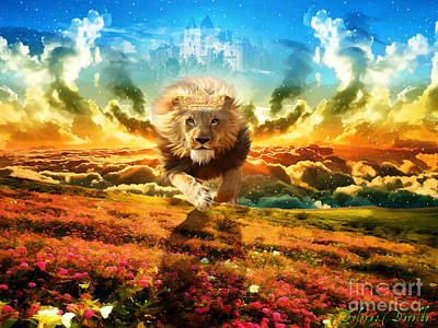 Animals Digital Art Royalty Free Images - Power and Glory Royalty-Free Image by Dolores Develde