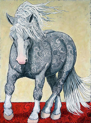 Percheron Painting - Power by Ande Hall
