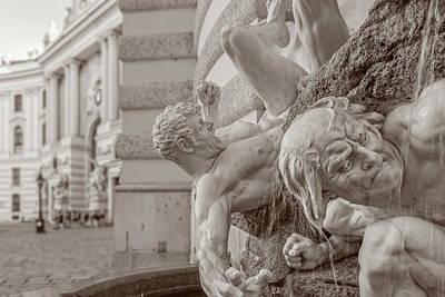 Photograph - Power At Sea Fountain - Detail by Roberto Pagani