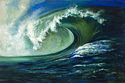 Surfing Art Painting - Power by Billie Colson