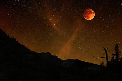 Photograph - Power Blood Moon by Scott Cordell