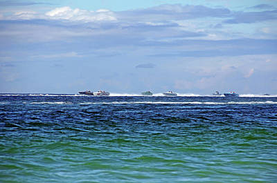 Photograph - Power Boat Race - Englewood Florida by Debbie Oppermann
