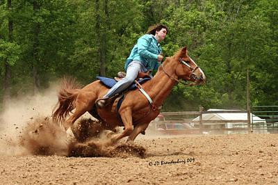 Horse Photograph - Power Curve by JD Brandenburg