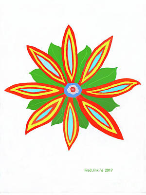 Digital Art - Power Flower by Fred Jinkins