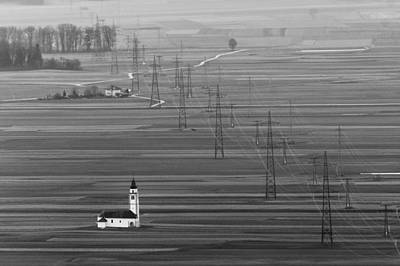 Church Photograph - Power Grid by Blaz Gvajc