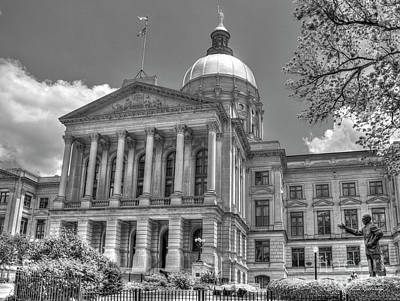 Photograph - Power House 4 Bw Georgia State Capital Art Atlanta Ga Art by Reid Callaway