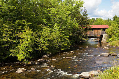 Photograph - Power House Covered Bridge by Alan L Graham
