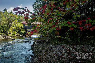 Photograph - Power House Covered Bridge by Deborah Klubertanz