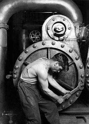 Power House Mechanic 1920 - Lewis Hine Art Print by War Is Hell Store