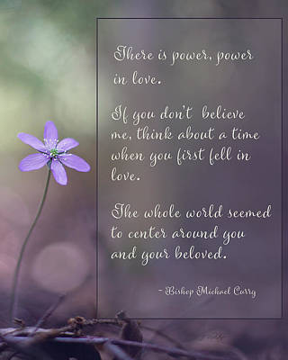 Photograph - Power In Love - Inspirational Art by Jordan Blackstone