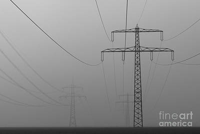 Power Line Art Print by Franziskus Pfleghart
