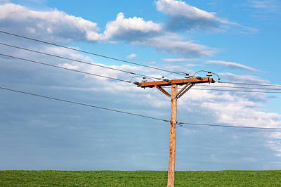 Monticello Photograph - Power Line Pylon by Todd Klassy