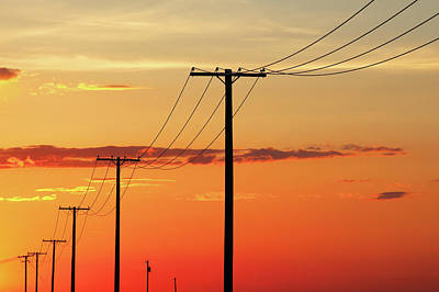 Photograph - Power Line Silhouette by Todd Klassy