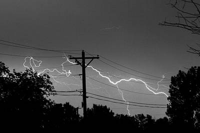 Photograph - Power Lines Bw Fine Art Photo Print by James BO Insogna