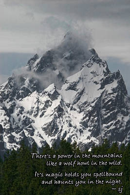 Photograph - Power Of The Mountains by Shari Jardina